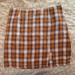 SHEIN plaid skirt with back zipper